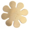Metal Blank 24ga Brass Flower 24mm No Hole